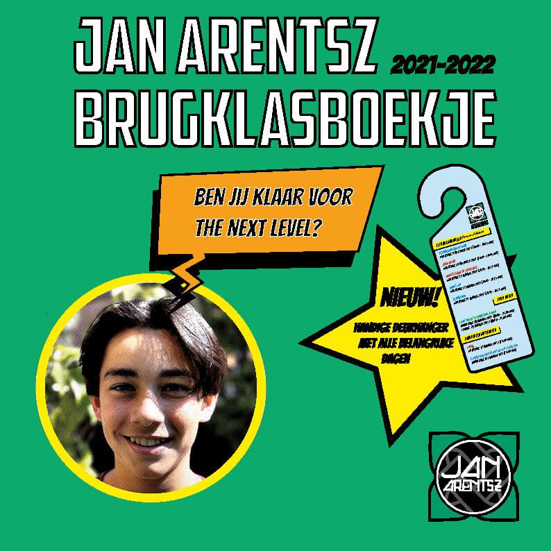 brugklasboekje Jan Arentsz 2021-2022